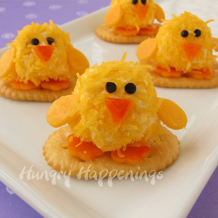 Creative Baby Shower Appetizers Part - 30: Baby Chick Cheese Balls - Cute Little Appetizers For Easter Dinner Or Even  A Baby Shower