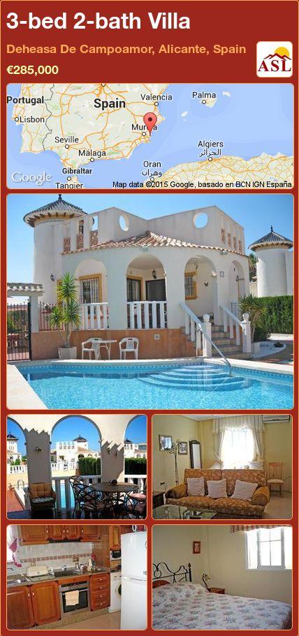 3-bed 2-bath Villa in Deheasa De Campoamor, Alicante, Spain ►€285,000 #PropertyForSaleInSpain