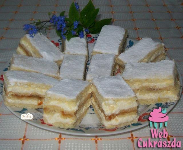Citromos szelet recept (Lakodalmas sütemény)