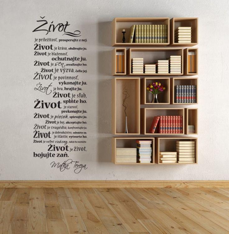 Život je ...- nálepka na stenu - Nálepky na stenu - Nálepky a plagáty