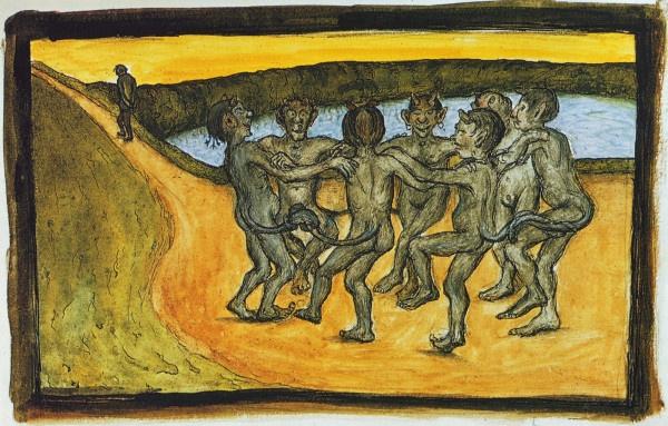 """""""Piiritanssi"""" (1898) by Hugo Simberg"""