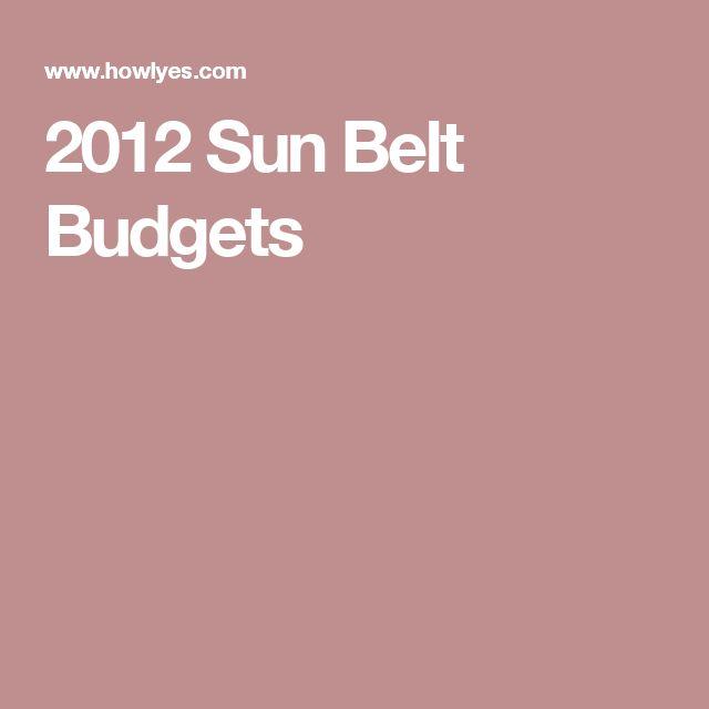 2012 Sun Belt Budgets