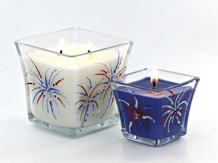 Learn to make these festive fireworks candles for the 4th of July! #DIY #peakcandle #candlemaking #4thofJuly #IndependenceDay #candles