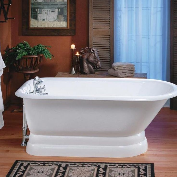 the traditional cast iron tub with pedestal base is a classic it will never go