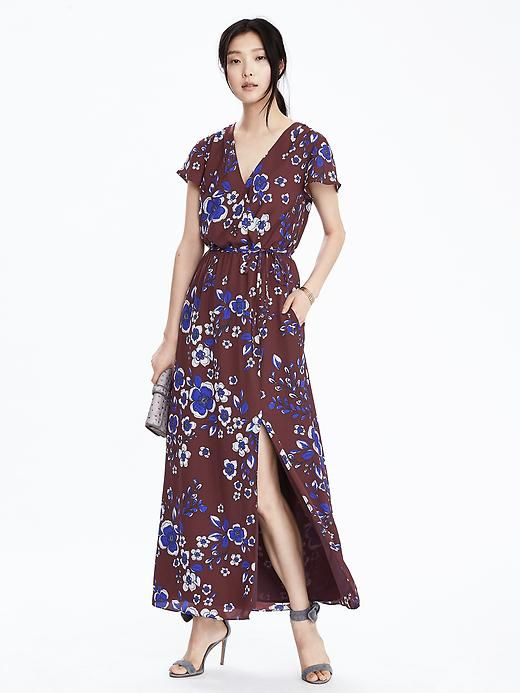 Floral dress, Banana Republic