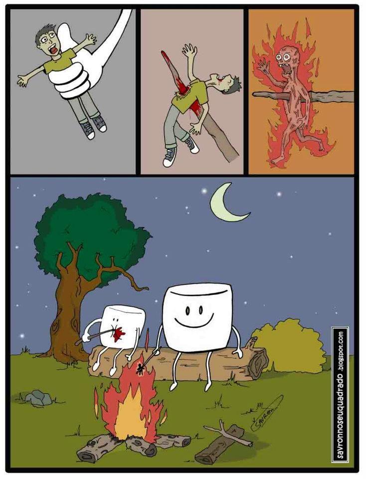 Universo paralelo bombón fogata funny lol