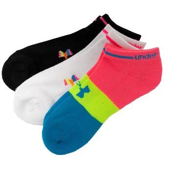 Under Armour® Heatgear® No Show Neon Training Socks 3-Pack #VonMaur