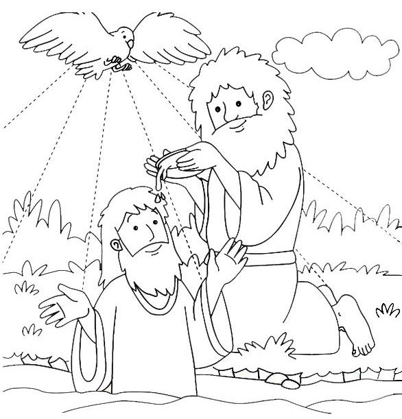 Inspirational Baptism Of Jesus Coloring Page 12 Baptism of Jesus