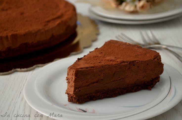 torta fredda con mousse al cioccolato