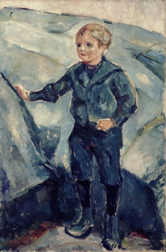 Boy in Blue / Edvard Munch / c. 1900 / oil on canvas