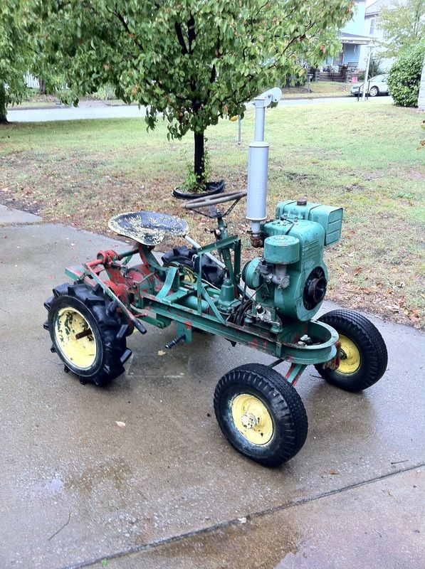 Mini Antique Tractors : Best images about lawn mowers and garden tillers on