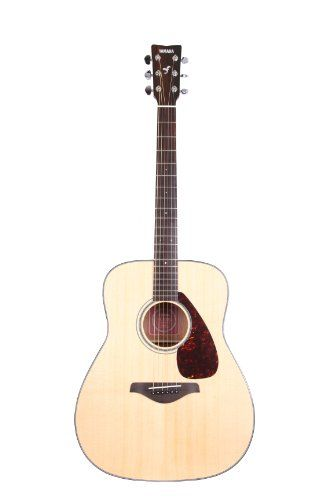 Yamaha FG700S Acoustic Guitar, natural wood, accented with black-and-white body binding. #acoustic-guitar-for-beginners