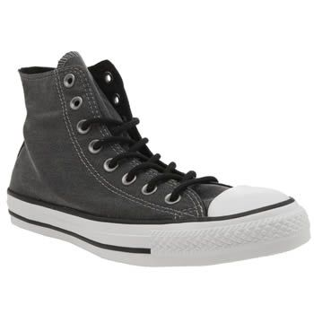 Converse Black Chuck Taylor All Star Hi Wash The Converse Chuck Taylor All Star Hi Wash arrives to update your ever growing plimsoll collection. The washed-out black fabric upper is joined with silver metal eyelets and black laces for an alterna http://www.MightGet.com/january-2017-13/converse-black-chuck-taylor-all-star-hi-wash.asp