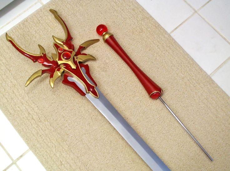 Step-by-step process to build Hikaru's sword.