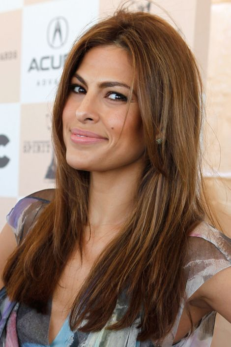 Brown: Hair Colors Ideas, Eva Mendes, Brunettes Hair, Brown Hair Colors, Black Hair, Summer Hair, New Hair, Caramel Brown, Caramel Highlights
