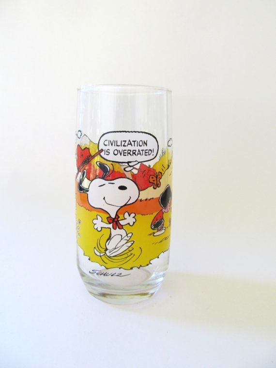 McDonald's Camp Snoopy Collection Glass by FromSomeonesAttic