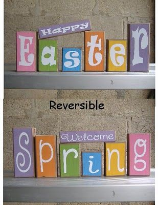 Easter Craft                                                                 Check out her website.  She makes seriously cute decorations for all seasons!
