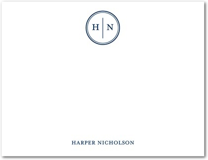Solid Monogram stationary from Tinyprints