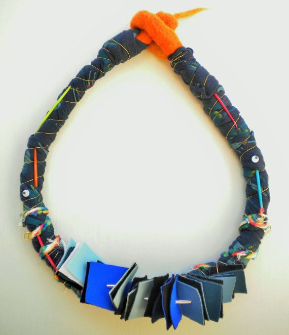 original fabric necklace neoprene textile necklace bold by Jiakuma