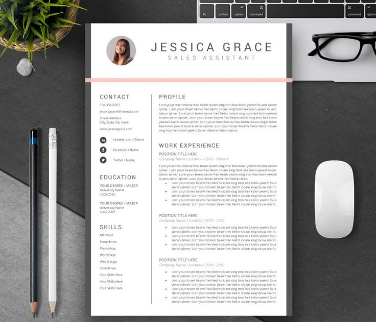 Best Work Images On   Resume Templates Resume Design