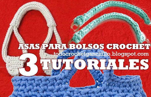 Como confeccionar manijas para carteras al crochet