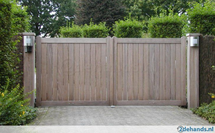 Houten poort - Te koop in Meeuwen-Gruitrode Meeuwen