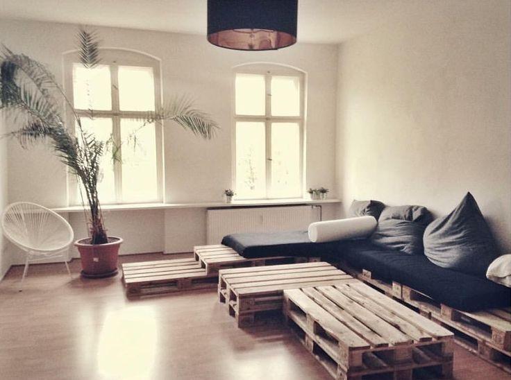 Couchlandschaft Aus Paletten Frs Wohnzimmer Diy Couch Selbstgemacht