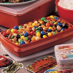 """M&M Snack Mix Recipe -This colorful snack mix, shared by Billie Blanton of Kingsport, Tennessee, will satisfy a """"sweet tooth"""" or """"salty tooth""""!"""