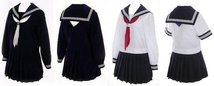 Sailor Dress Patterns for Girls | Japanese School Uniform | All In Japan