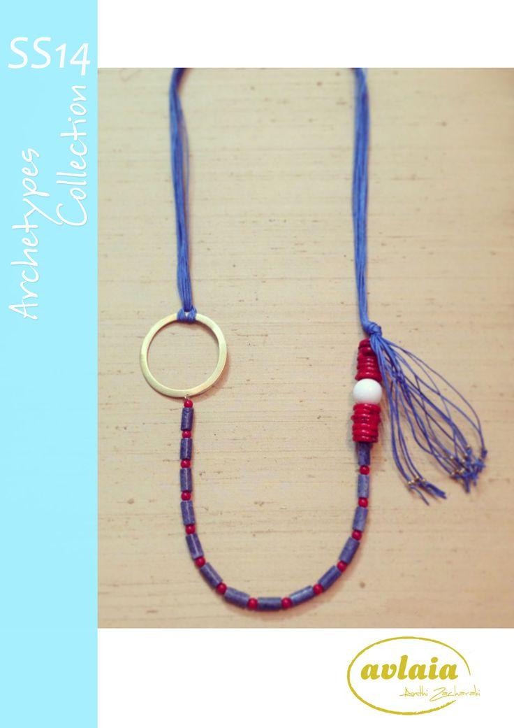 Silver handmade necklace designed by Anthi Zacharaki