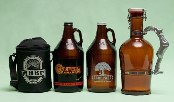 Los growlers son recipientes con los que puedes llevarte a casa cerveza fresca del brewpub o de la fábrica y así disfrutar de ella en un plazo de 7 a 10 días (2-3 días una vez abierto)