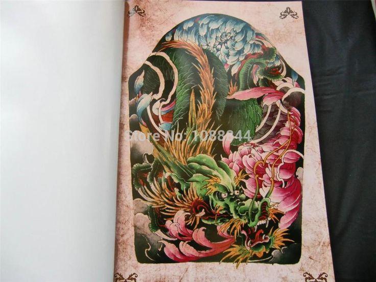 Wholesale japanese style 2013 tattoo flsh book hannya skull turtl buddha flower dragon sketch - Dessin dragon japonais ...