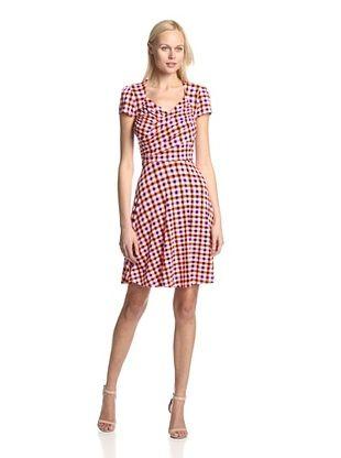 54% OFF Leota Women's Cap Sleeve Dress with Sweetheart Neckline (Picnic)