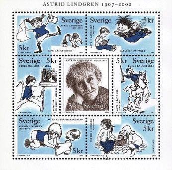 Astrid Lindgren stamp