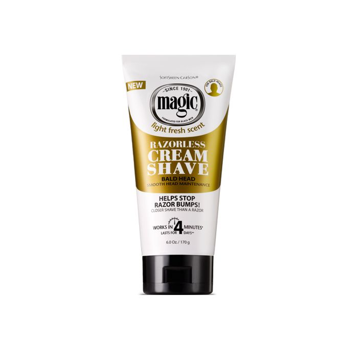 Magic Razorless Cream Shave Bald Head 6 oz $3.50 Visit BarberSalon.com One stop shopping for Professional Barber Supplies, Salon Supplies, Hair & Wigs, Professional Products, Nail Supplies. GUARANTEE LOW PRICES!!! #barbersupply #barbersupplies #salonsupply #salonsupplies #beautysupply #beautysupplies #hair #wig #deal #promotion #andis #wahl #oster #clipper #trimmer #blacksolutions #elegance #shavingrazors #shavingblades #filarmonica #hairdryers #clubman #xfusion