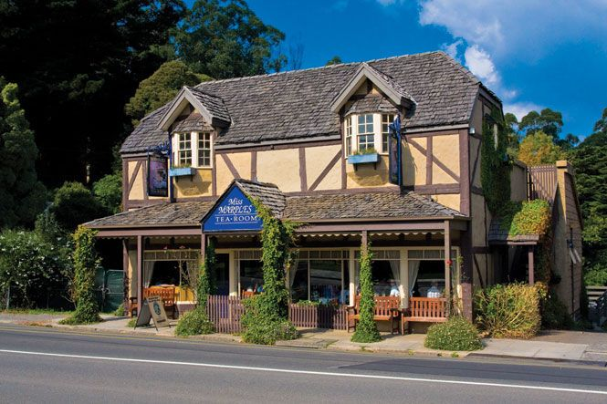 Childhood memories of driving up to the Dandenongs for tea and scones at Miss Marple's with my family.