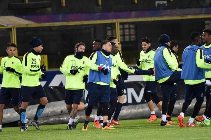 Bologna con i tifosi verso l'Inter, le foto dell'allenamento - Bologna - il Resto del Carlino