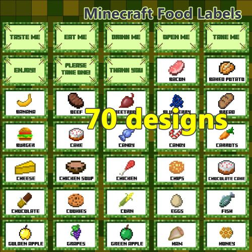 The 25 Best Minecraft Food Labels Ideas On Pinterest