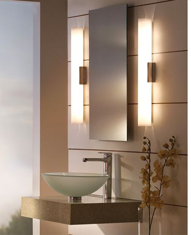 When selecting fixtures for your bathroom: CRI (Color Rendering Index), and color temperature. CRI, choose a fixture with a high CRI (90+ is preferred). Incandescent and halogen light sources always have the best CRI – 100 – meaning they most accurately render colors. If you wish to use an energy-efficient LED or fluorescent light source, ensure your selection has a CRI or at least 90. For temp try selecting fixtures with a warm color temperature (2700K – 3000K).