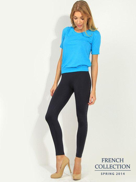 T-shirt turkusowy Bluzki \ t-shirty French Collection \ Bluzki \ t-shirty Butik 133414