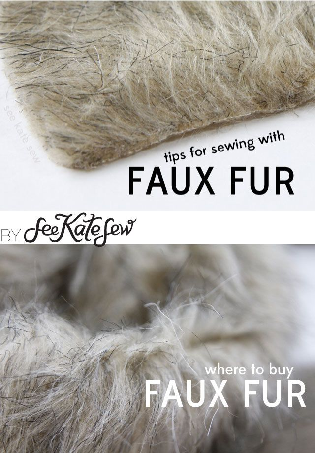//Pay attention to the direction of the fur as you cut your pieces. It will act like a one-way design, so you may need extra yardage to compensate. //When sewing a seam, brush the fur away from the seam to prevent it from getting too caught in the seam. //After you sew the seam, make …