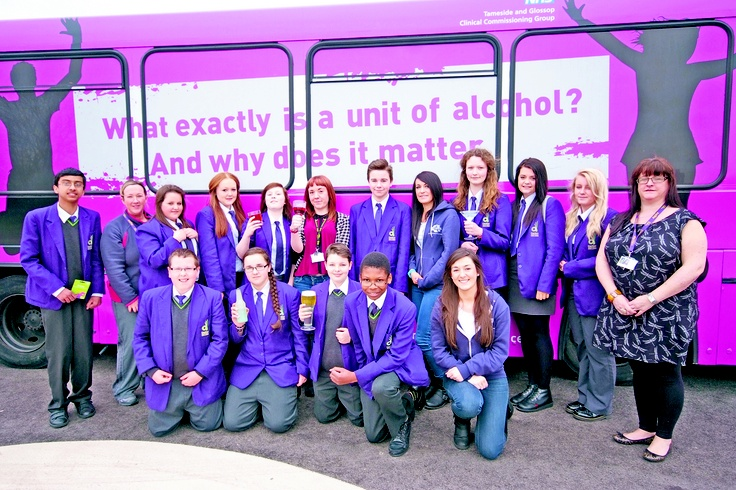 Our branded bus visits a local school