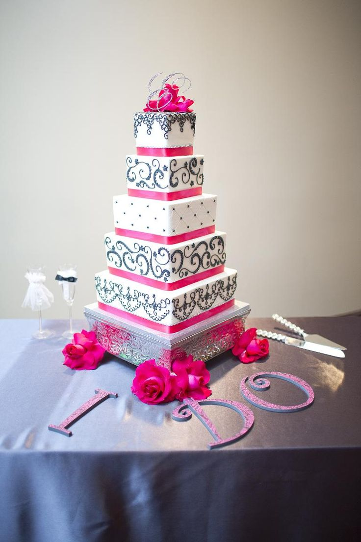 wow wedding cakes wichita ks pink and grey wedding cake wedding 27658