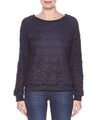 Suncoo Lace Sweatshirt - Blue Night WAS $102.00 NOW $61.20 http://www.richgurl.com/linkout/2070287
