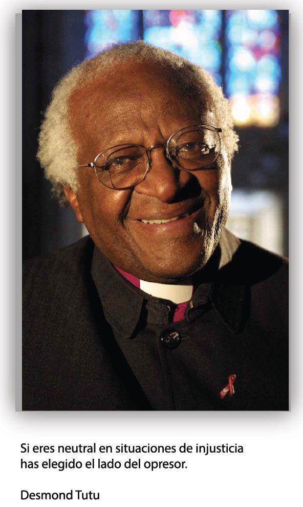 Desmond Tutu, clérigo anglicano de Sudáfrica que contribuyo al fin del apartheid.
