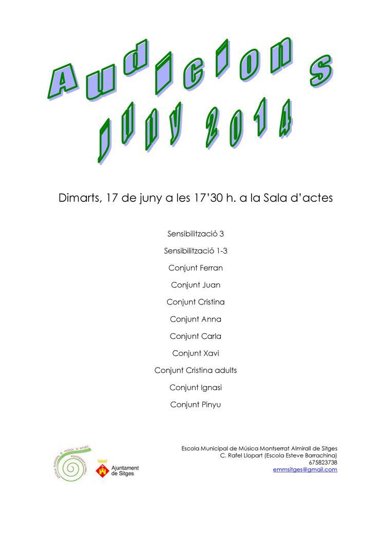 Audicions final de curs (17.06.2014)