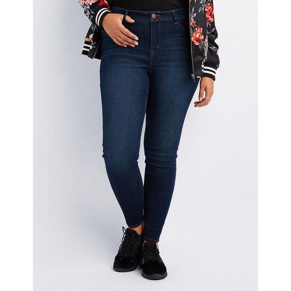 Refuge Skin Tight Legging Jeans ($34) ❤ liked on Polyvore featuring jeans, indigo, skinny fit denim jeans, denim jeans, light denim jeans, zipper skinny jeans and refuge jeans