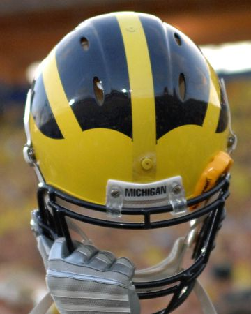 Michigan Wolverines - best helmet in college football.