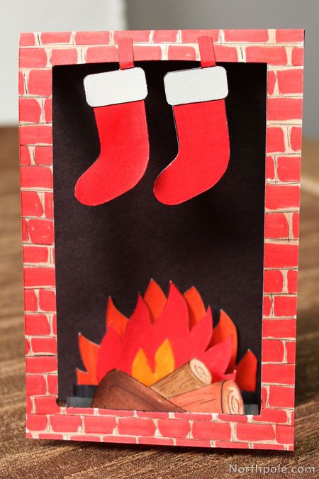 Download The Free Template To Make Your Own Cozy Fireplace