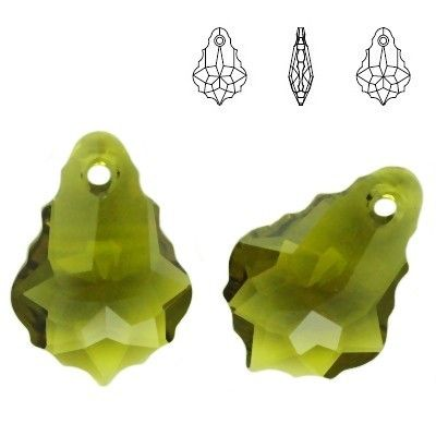 6090 Baroque 22mm Olivine  Dimensions: 22,0 mm Colour: Olivine 1 package = 1 piece